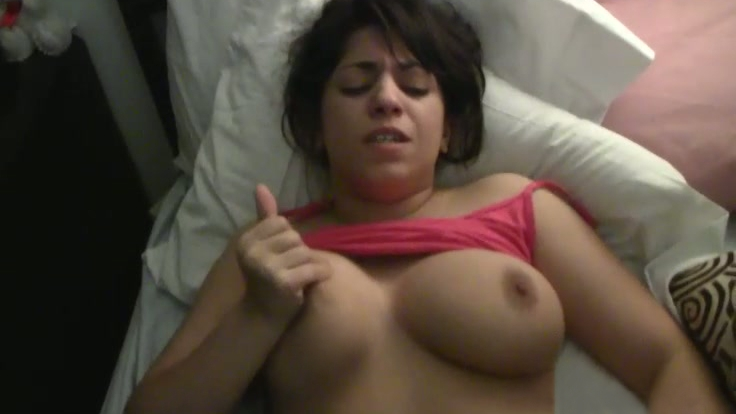 Natural titted GF gets horny as fuck