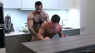 Super kitchen fucking - Darius Ferdynand and Adam Champ